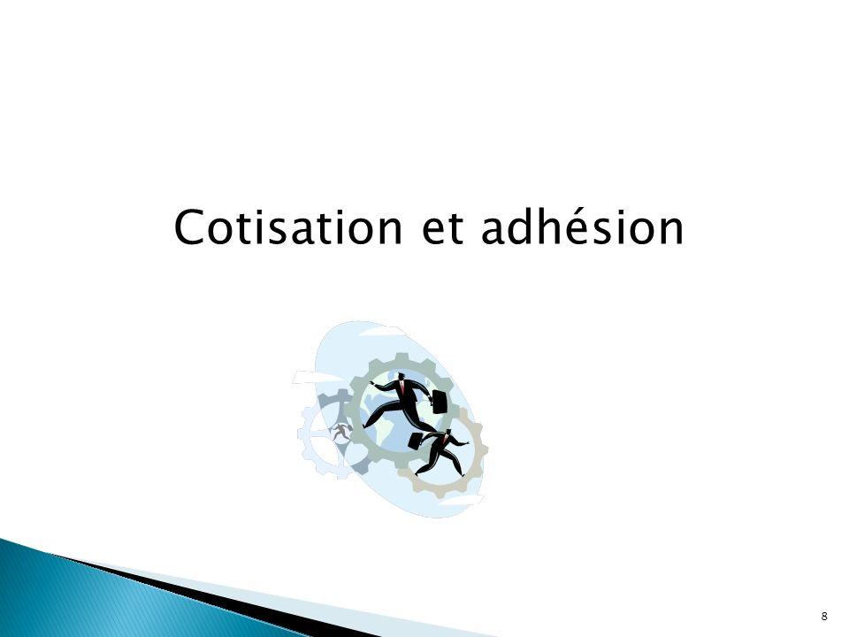 Cotisation et adhésion