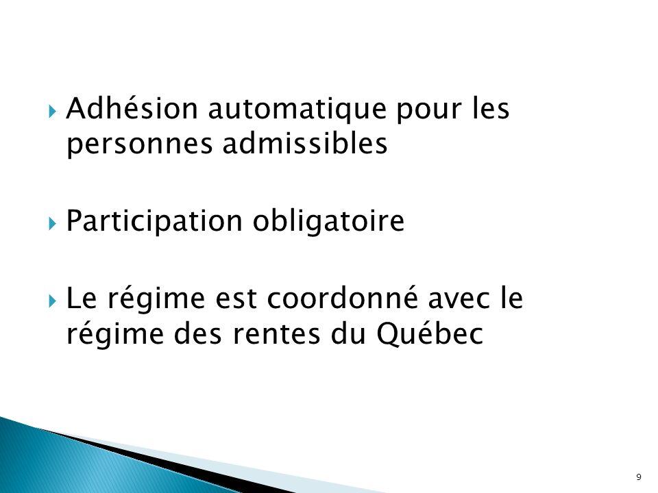 Adhésion automatique pour les personnes admissibles
