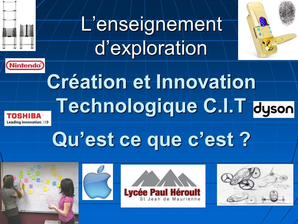 L'enseignement d'exploration Création et Innovation Technologique C. I