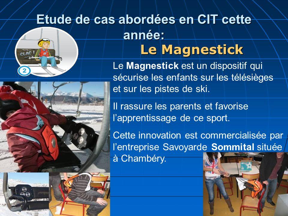 Etude de cas abordées en CIT cette année: