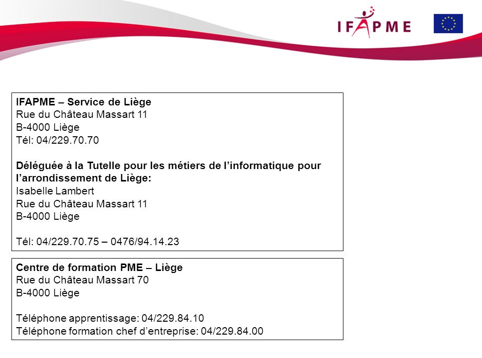 IFAPME – Service de Liège