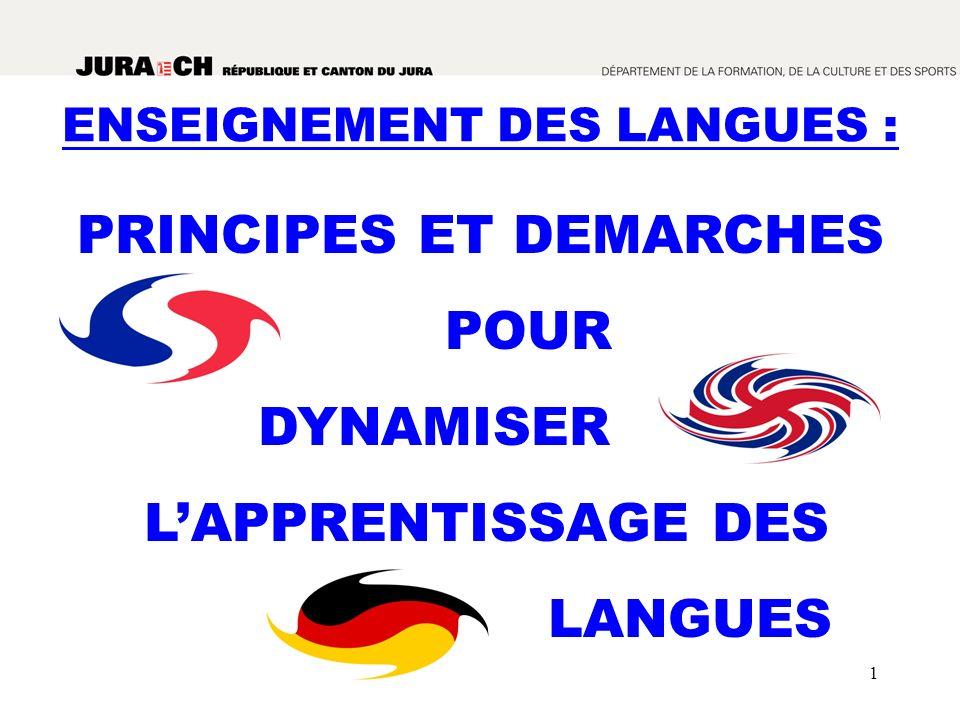 PRINCIPES ET DEMARCHES POUR DYNAMISER L'APPRENTISSAGE DES LANGUES