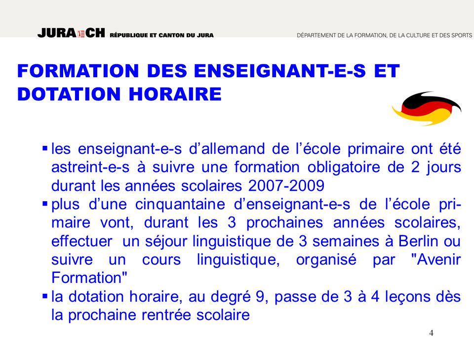 FORMATION DES ENSEIGNANT-E-S ET DOTATION HORAIRE
