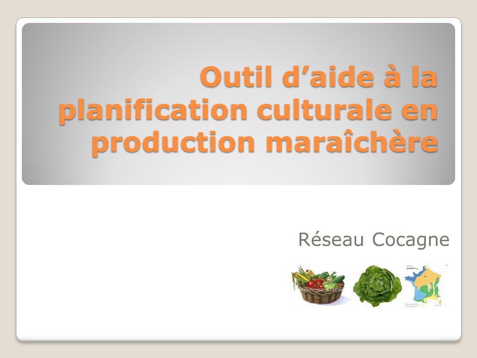 Outil d'aide à la planification culturale en production maraîchère
