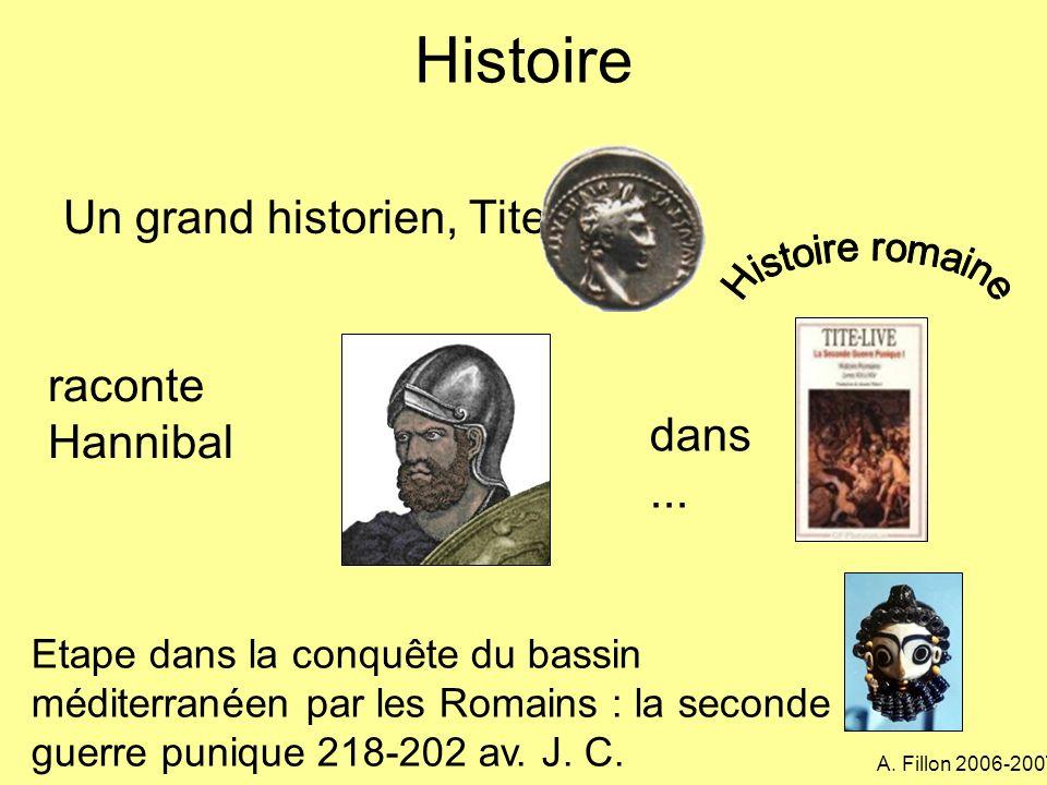 Histoire Un grand historien, Tite-Live... raconte Hannibal dans...