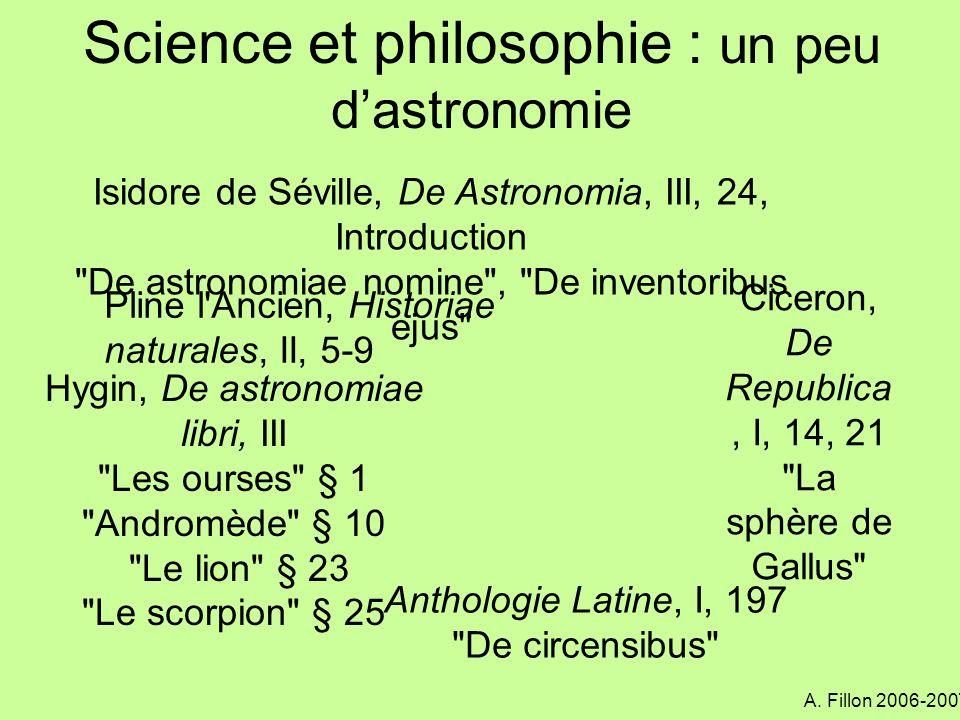 Science et philosophie : un peu d'astronomie