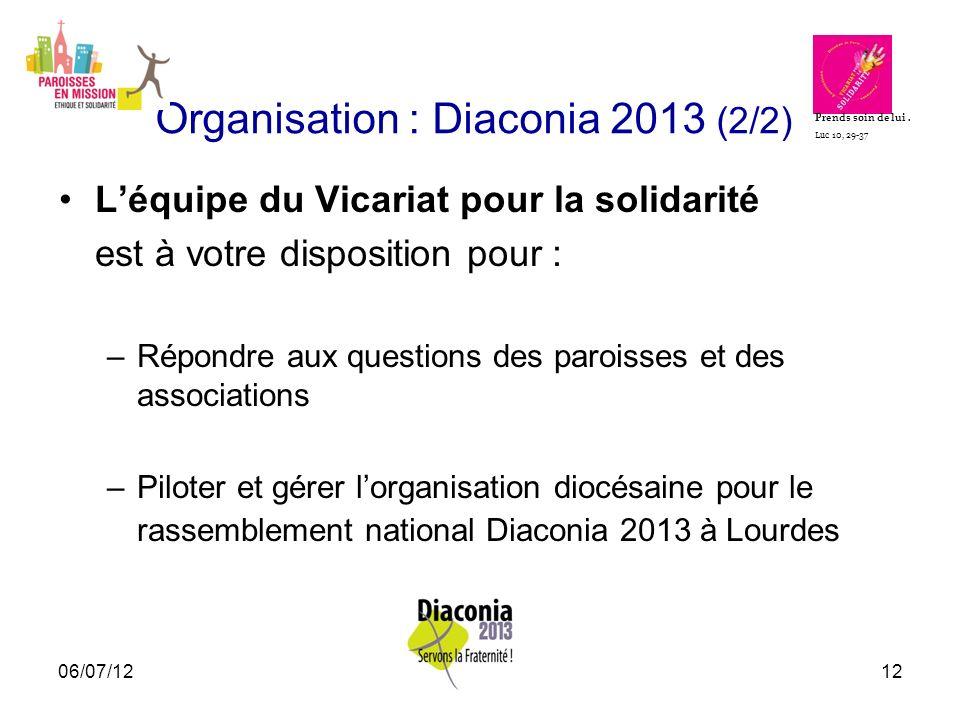 Organisation : Diaconia 2013 (2/2)
