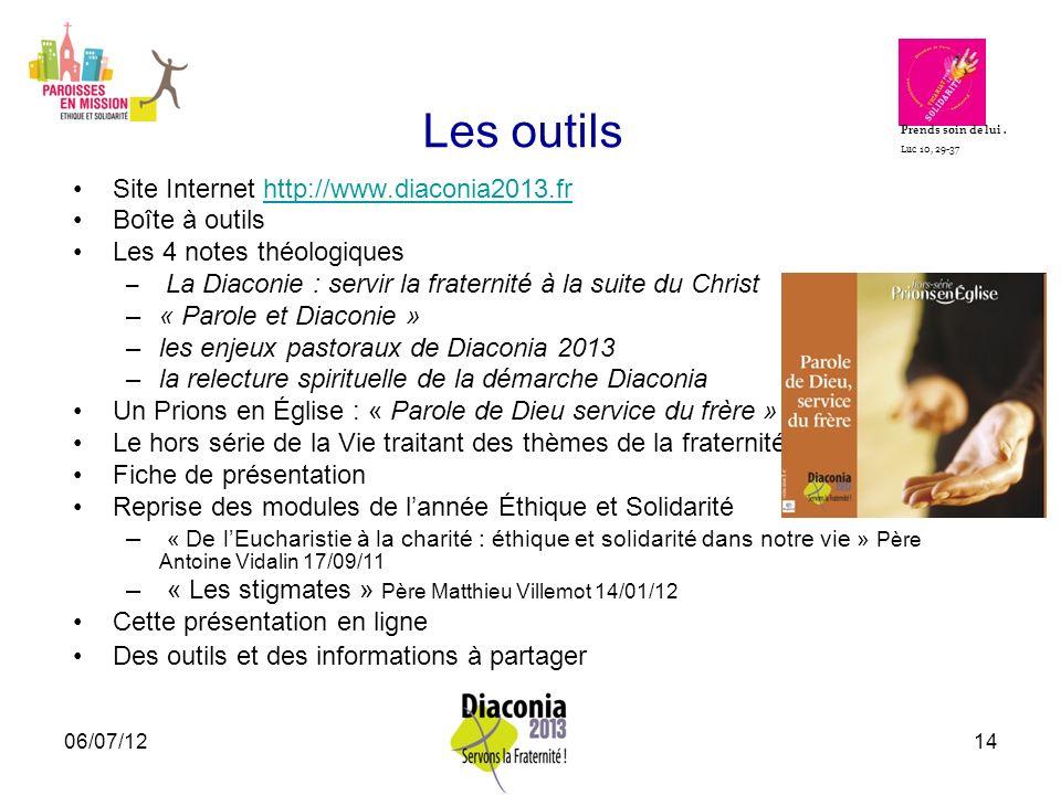 Les outils Site Internet http://www.diaconia2013.fr Boîte à outils