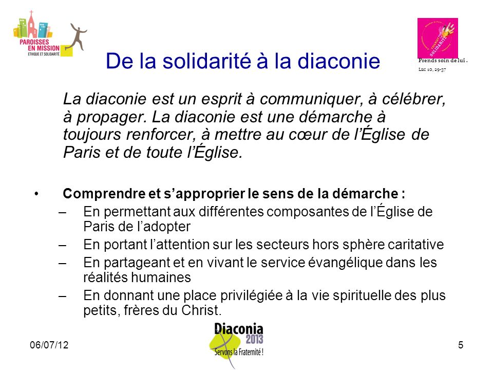 De la solidarité à la diaconie