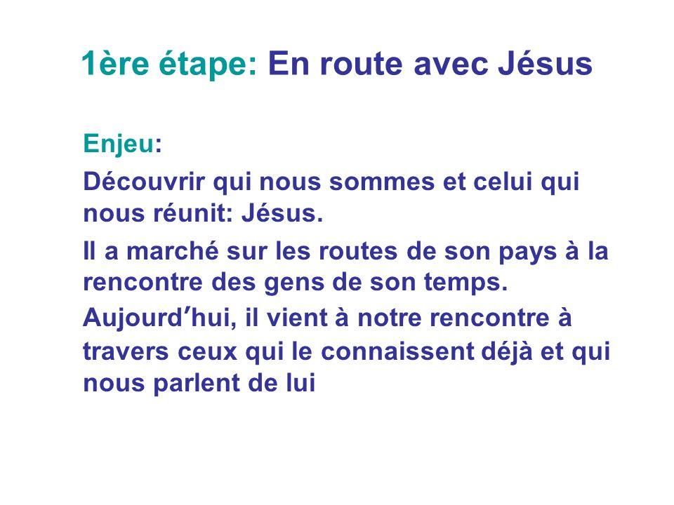 1ère étape: En route avec Jésus