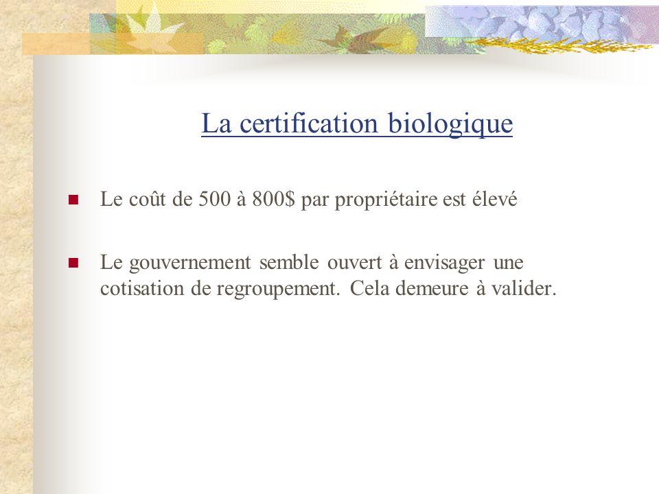 La certification biologique