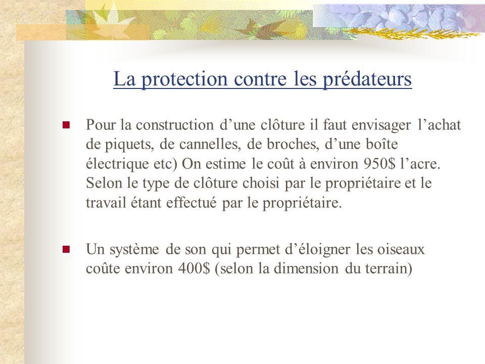 La protection contre les prédateurs