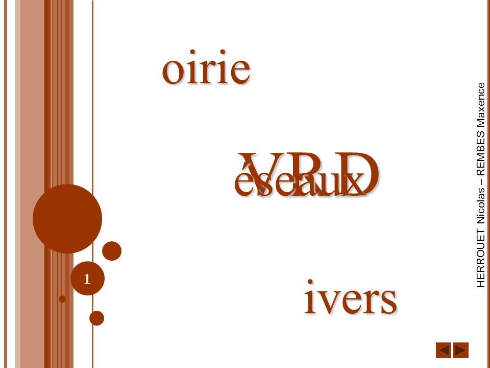 oirie V R D éseaux ivers
