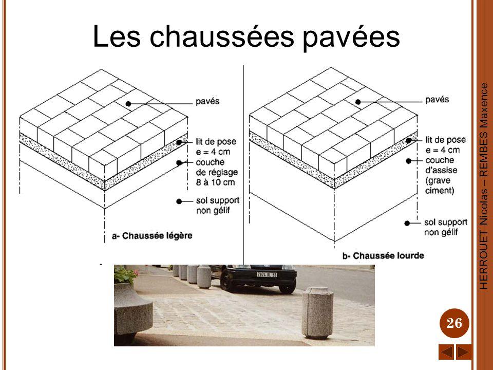 Les chaussées pavées