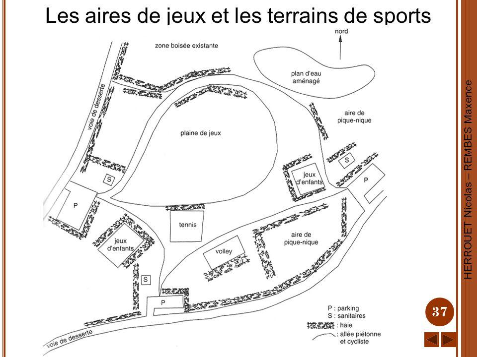 Les aires de jeux et les terrains de sports