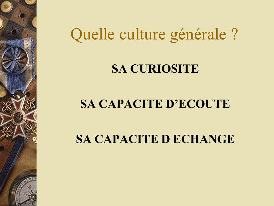 Quelle culture générale