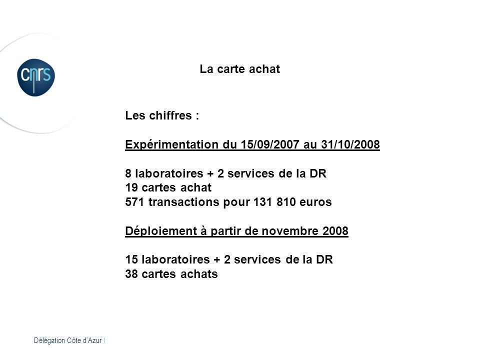 Expérimentation du 15/09/2007 au 31/10/2008