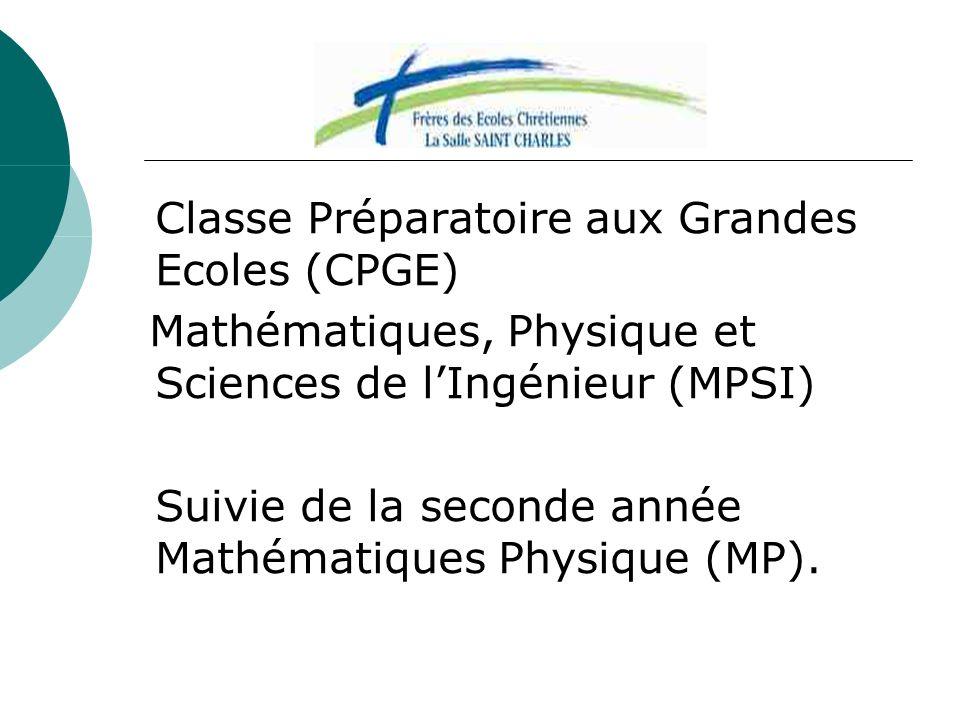 Mathématiques, Physique et Sciences de l'Ingénieur (MPSI)