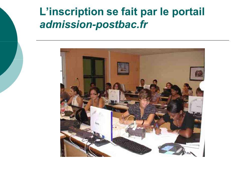 L'inscription se fait par le portail admission-postbac.fr