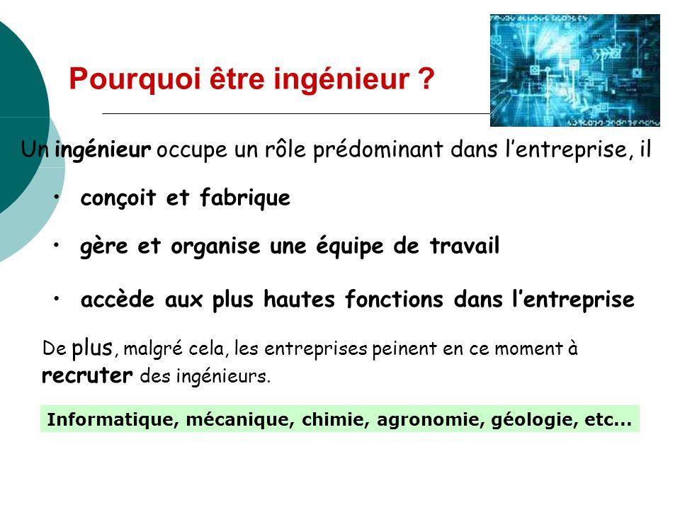 Pourquoi être ingénieur