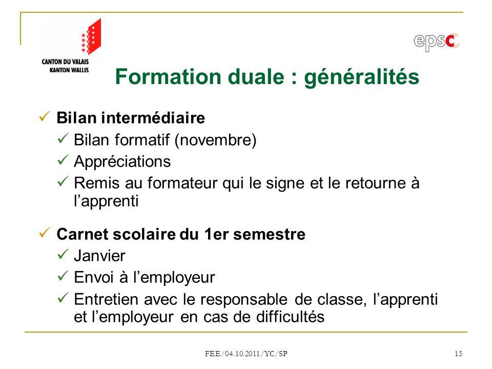 Formation duale : généralités