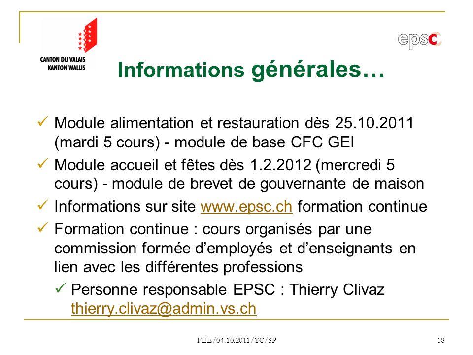 Informations générales…