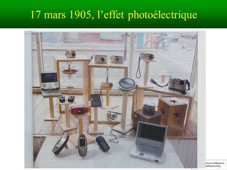 17 mars 1905, l'effet photoélectrique
