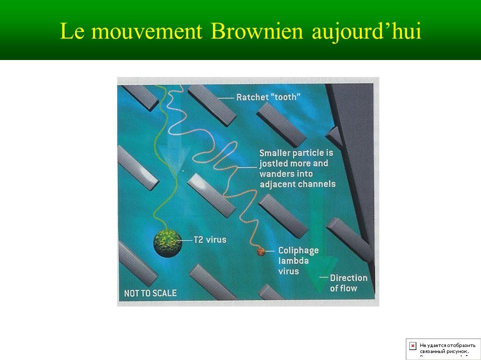 Le mouvement Brownien aujourd'hui