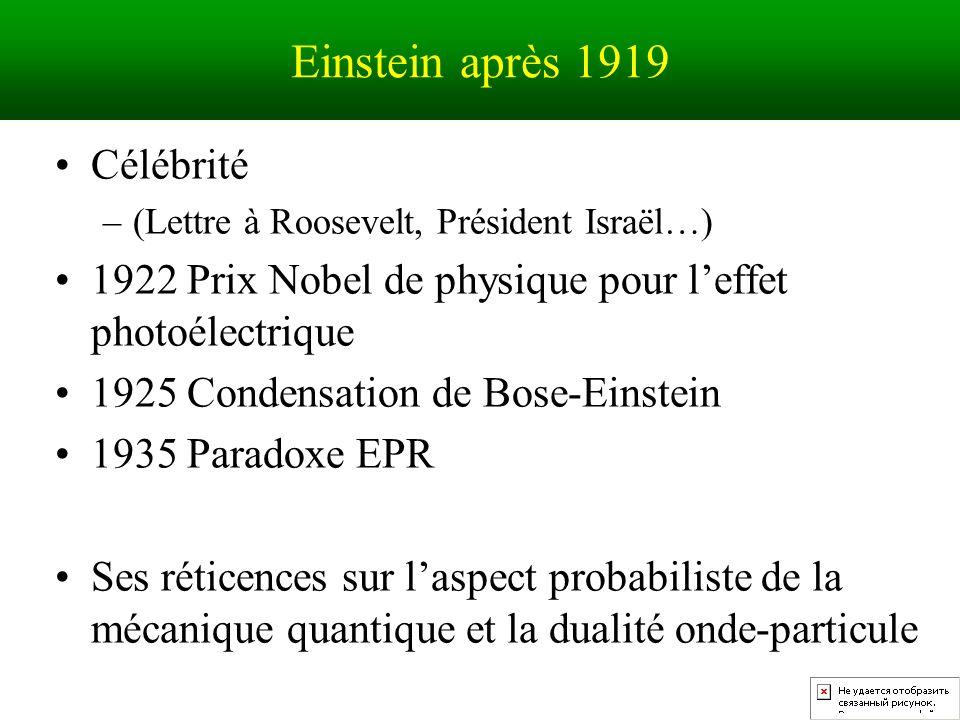Einstein après 1919 Célébrité