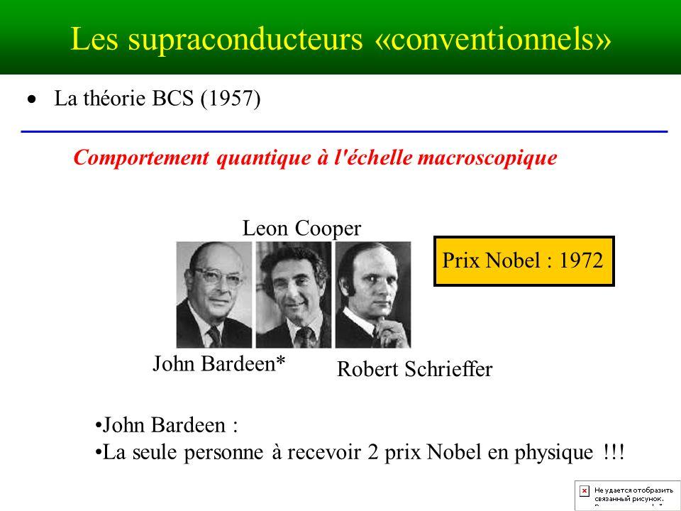 Les supraconducteurs «conventionnels»