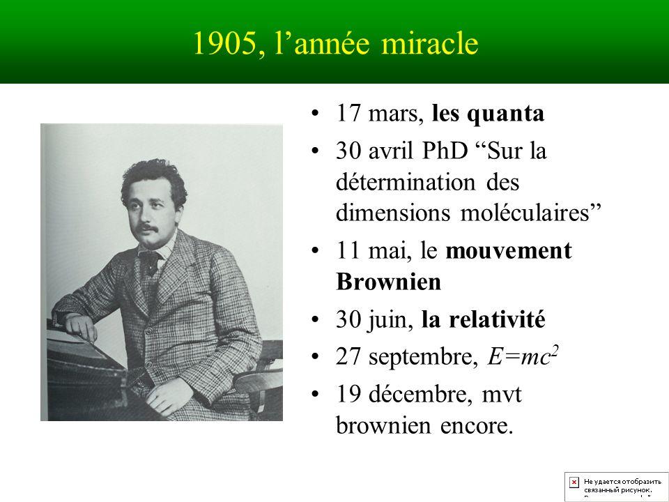 1905, l'année miracle 17 mars, les quanta