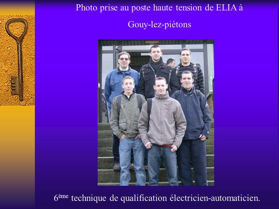 Photo prise au poste haute tension de ELIA à Gouy-lez-piètons