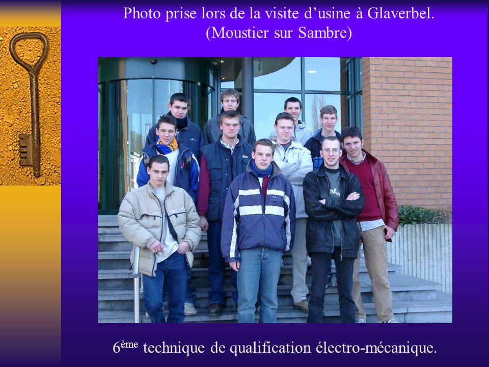 6ème technique de qualification électro-mécanique.