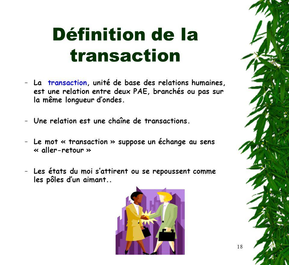 Définition de la transaction