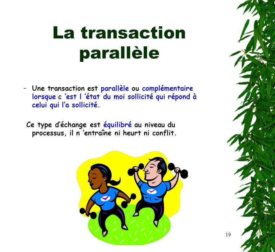 La transaction parallèle