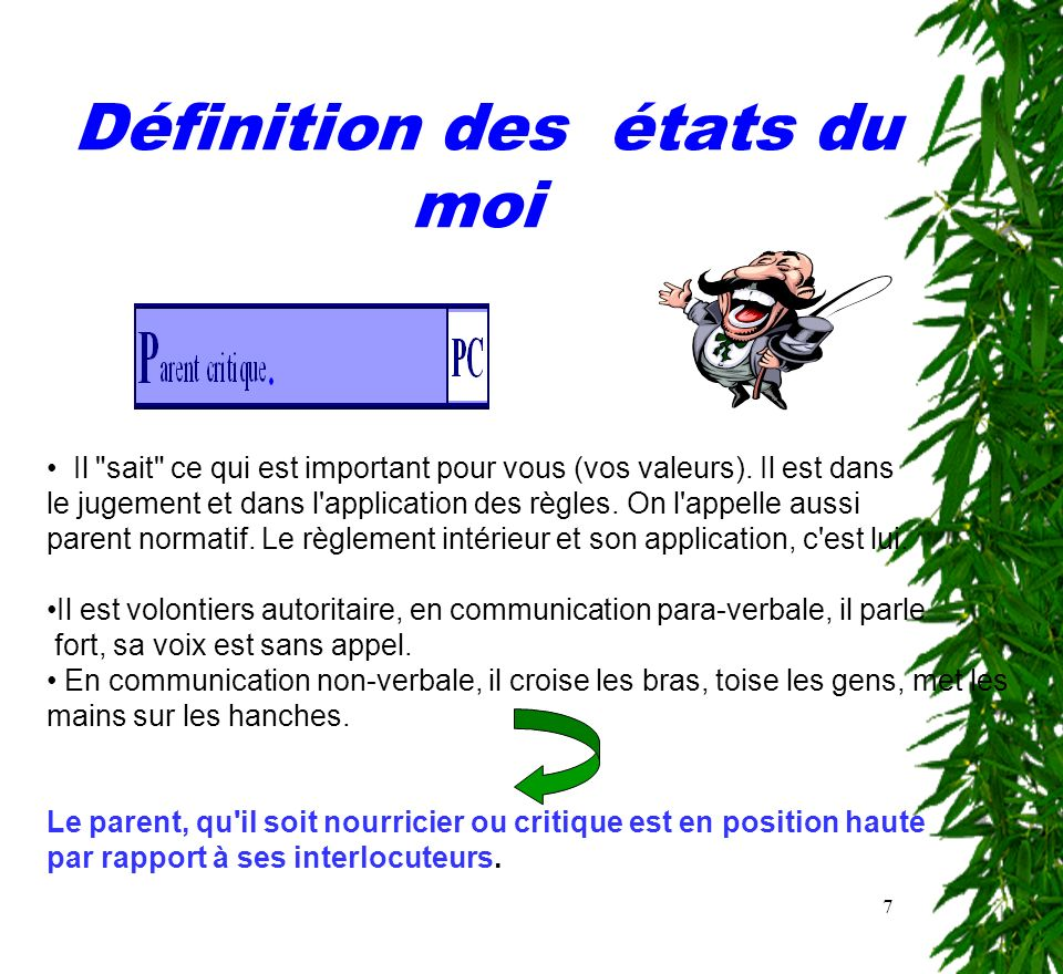 Les 3 tats de la personne ppt t l charger for Definition du reglement interieur
