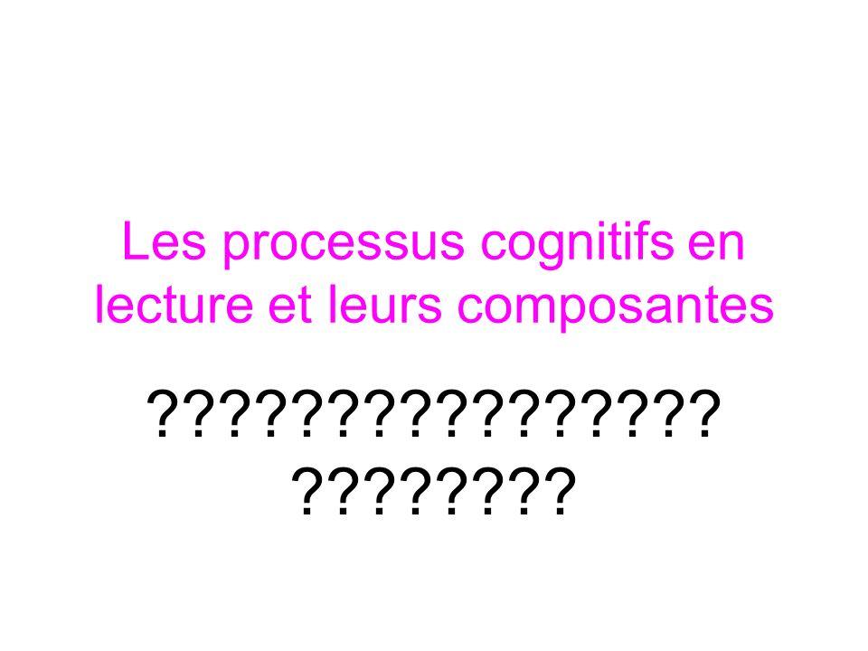 Les processus cognitifs en lecture et leurs composantes