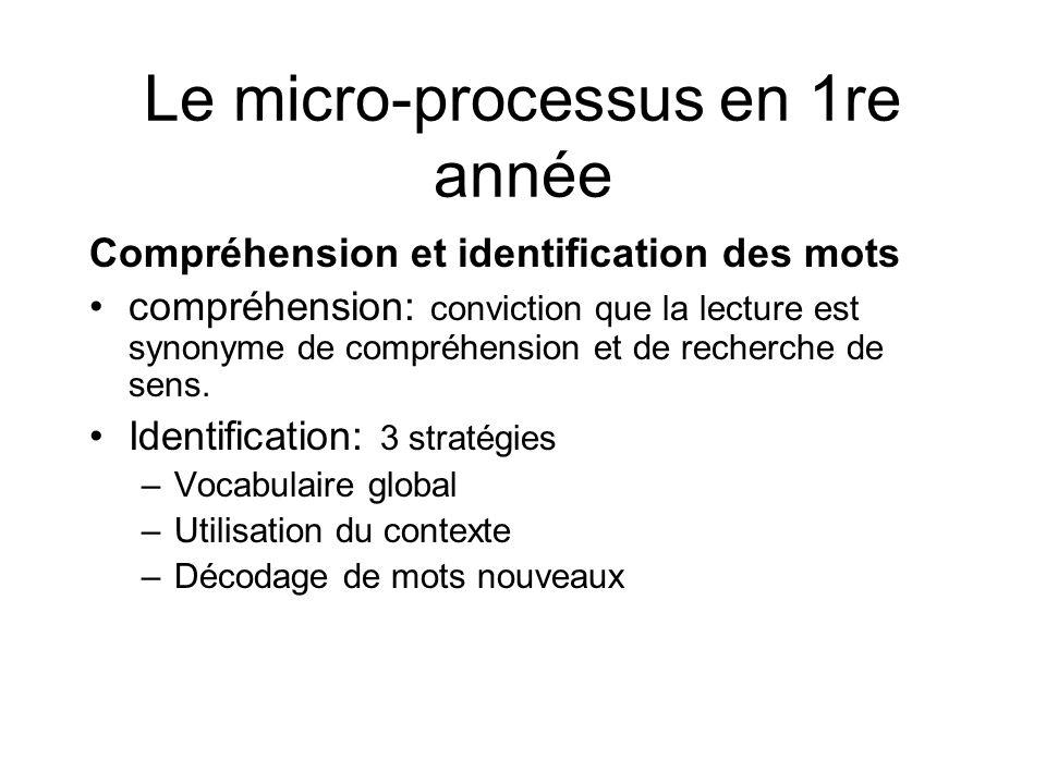 Le micro-processus en 1re année