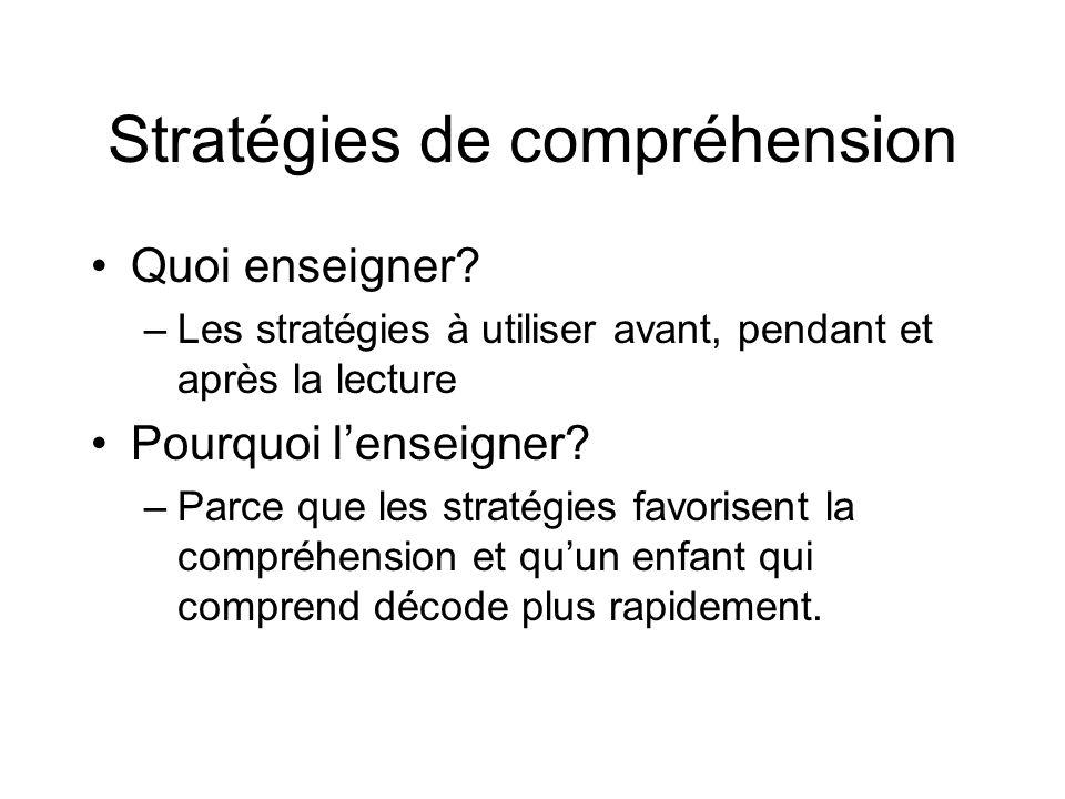Stratégies de compréhension