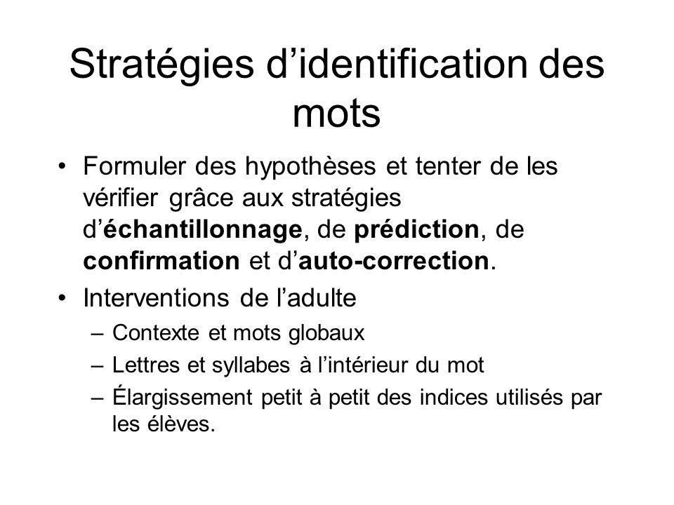 Stratégies d'identification des mots