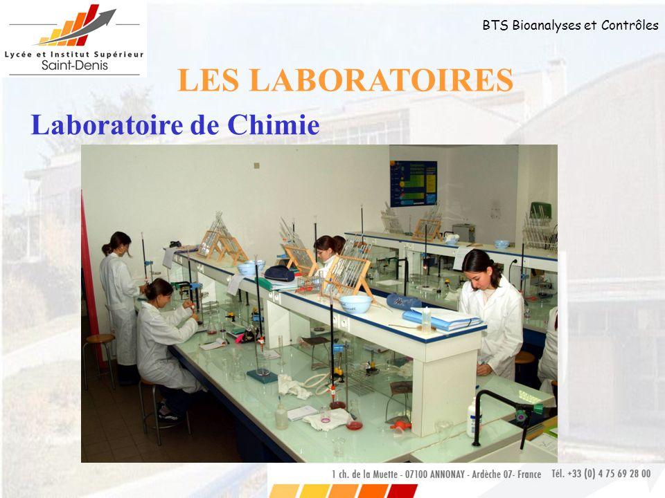 LES LABORATOIRES Laboratoire de Chimie