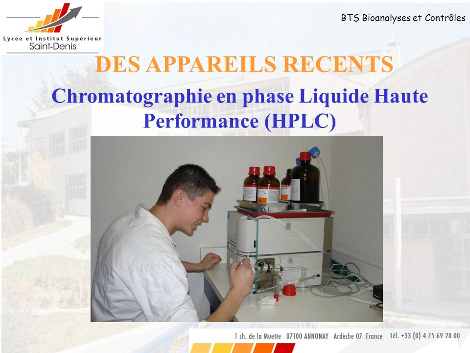 Chromatographie en phase Liquide Haute Performance (HPLC)