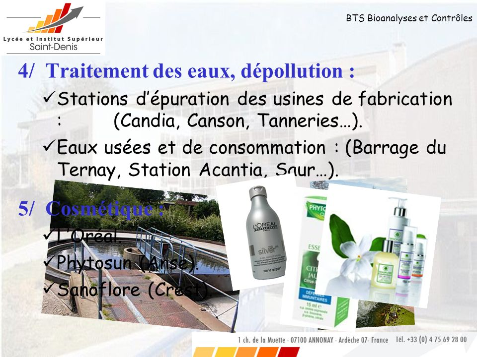4/ Traitement des eaux, dépollution :