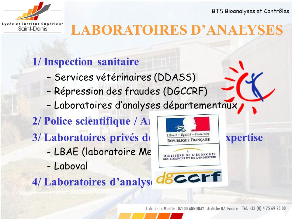LABORATOIRES D'ANALYSES