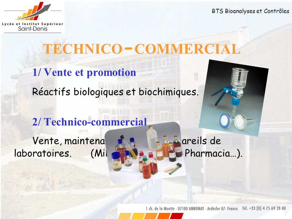 TECHNICO-COMMERCIAL 1/ Vente et promotion