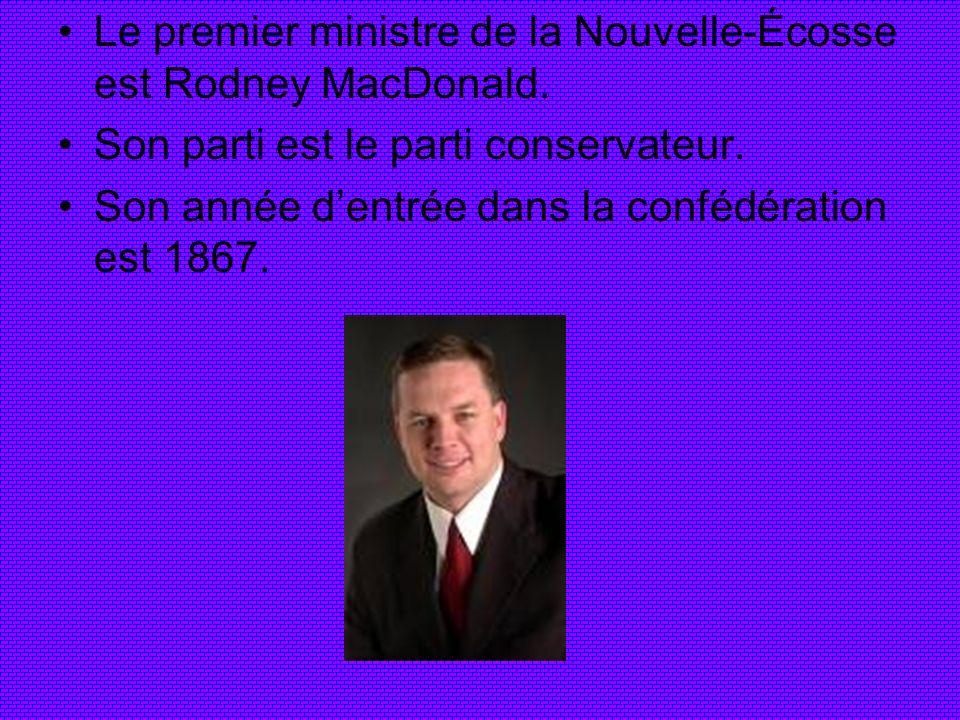 Le premier ministre de la Nouvelle-Écosse est Rodney MacDonald.