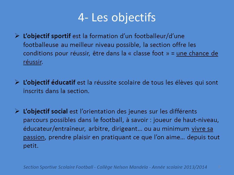 4- Les objectifs