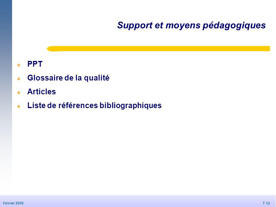 Support et moyens pédagogiques