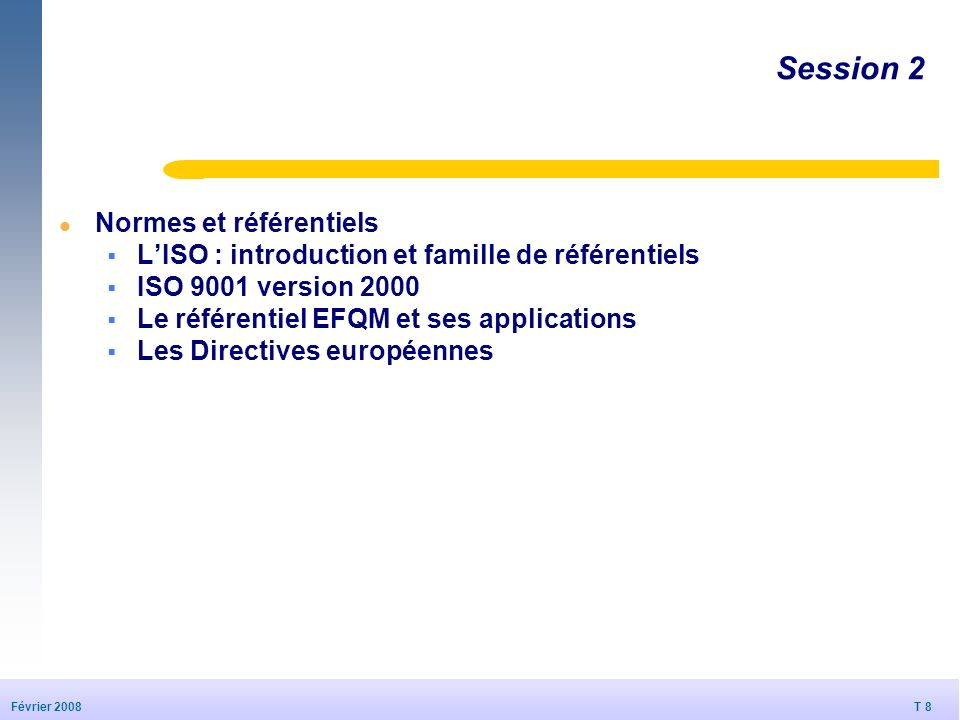 Session 2 Normes et référentiels