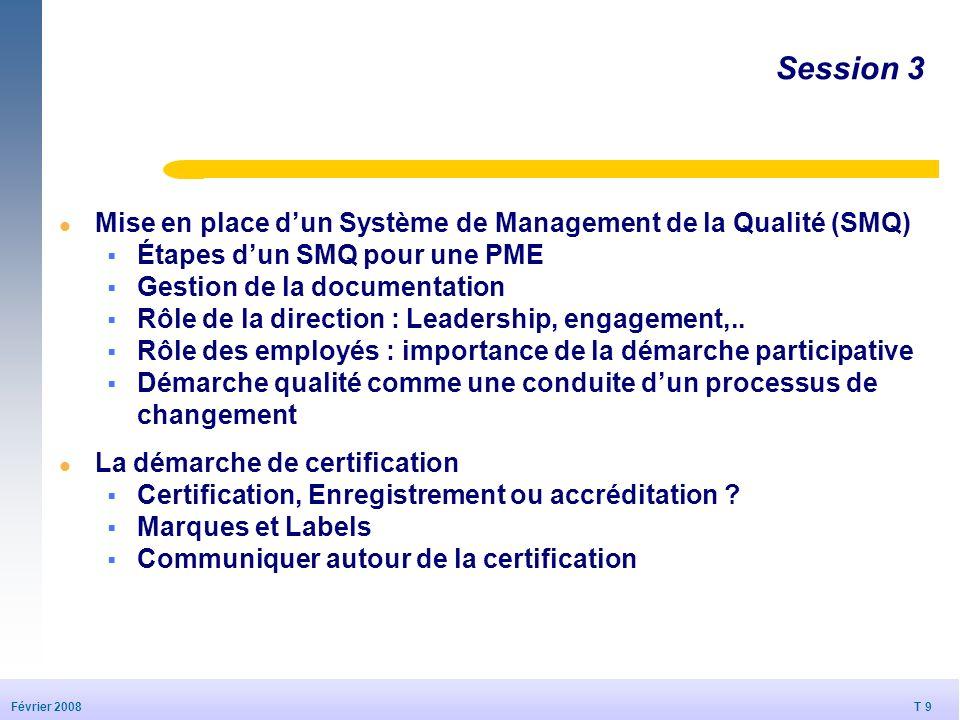 Session 3 Mise en place d'un Système de Management de la Qualité (SMQ)